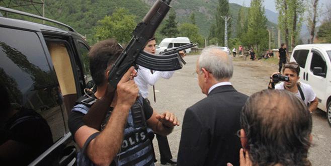 CHP liderine saldırıdan ilk kareler