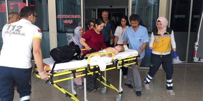 Bursa'da 20 aylık bebek balkondan düştü