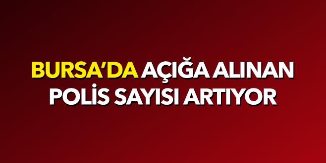Bursa'da 28 polis daha açığa alındı