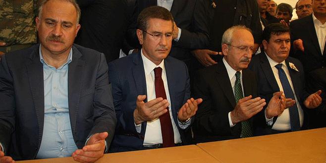 Kılıçdaroğlu ve Canikli'den şehit ailesine taziye ziyareti