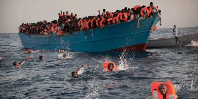 Binlerce göçmen kurtarıldı