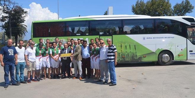 Mudanyaspor'a Büyükşehir desteği