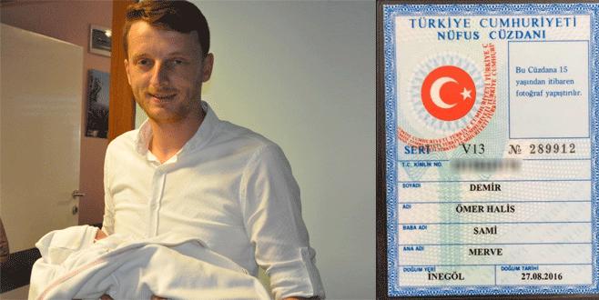 Bursa'da kahramanın adaşı kimliğini aldı