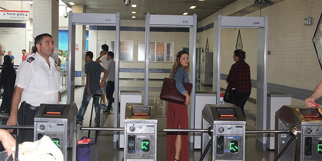 Havalimanı metrosuna x-ray cihazları konuldu