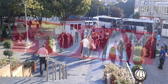 Bursa'da FETÖ soruşturmasında 51 polis adliyeye sevk edildi