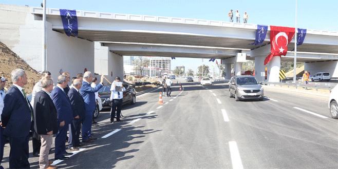 Mudanya Kavşağı'nda ilk etap trafiğe açıldı