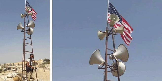 Menbiç'teki PYD/PKK'nın kalkanı ABD bayrağı