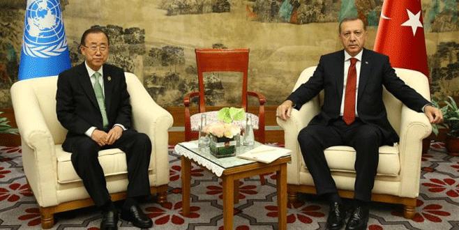Erdoğan-Ban Fırat Kalkanı operasyonunu görüştü
