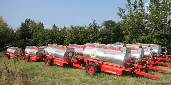 Bursa'da orman yangınlarıyla ilgili sıkı tedbir