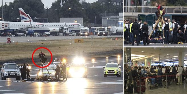 Çevreciler havalimanını işgal etti