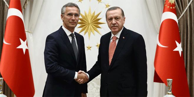 Erdoğan, NATO Genel Sekreteri Stoltenberg'i kabul etti