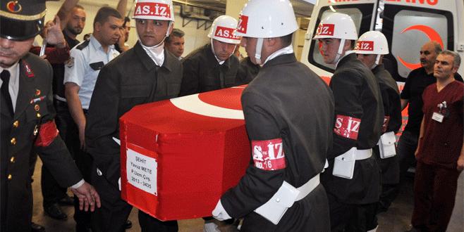 Şehit Uzman Çavuş Yavuz Mete'nin cenazesi İnegöl'e getirildi