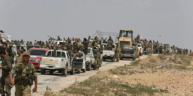 Bir grup ÖSO'lu Fırat Kalkanı'ndan çekildi