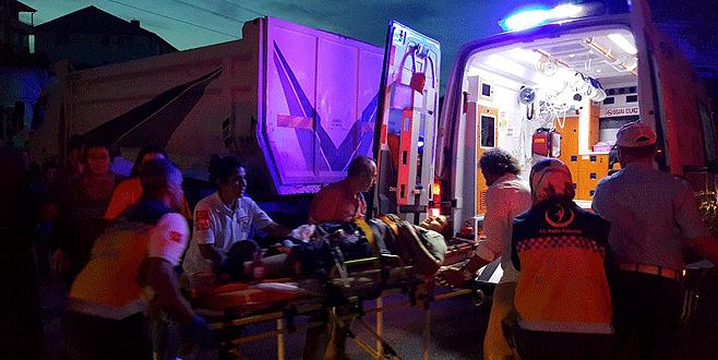 Bursa'da kamyonun çarptığı bisikletli çocuk ağır yaralandı