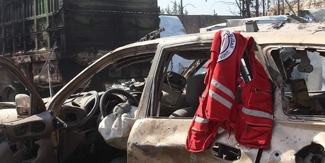 ABD'ye göre insani yardım konvoyunu Rus uçakları vurdu