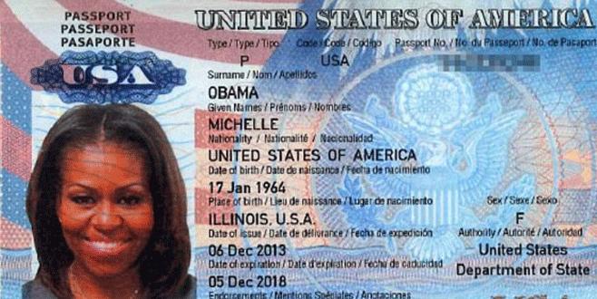 Michelle Obama'nın pasaport bilgileri 'çalındı'
