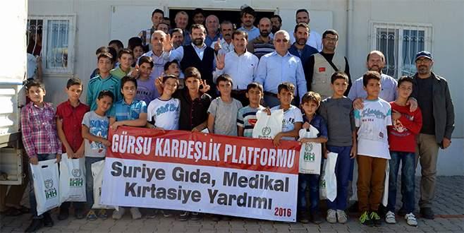 Bursa'dan Kilis'deki mültecilere yardım eli