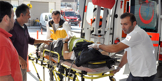 Bursa'da su kuyusuna düşen işçi ağır yaralandı