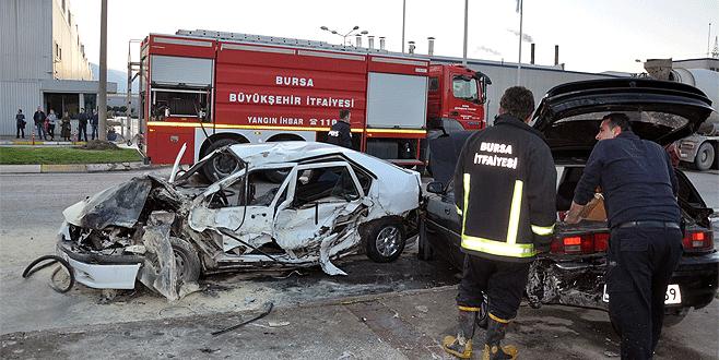 Bursa'da faciadan dönüldü: Canlarını zor kurtardılar