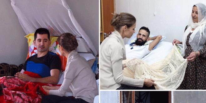 Esma Esad yaralı askerleri ziyeret etti