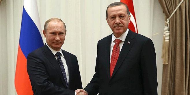 Cumhurbaşkanı Erdoğan ile Putin 'Suriye'yi görüştü