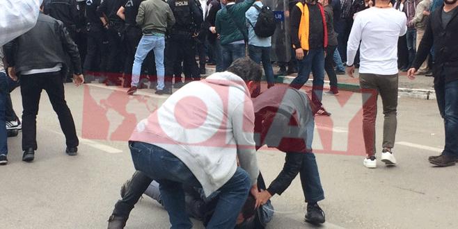 Bursa'da izinsiz gösteriye polis müdahalesi: 29 gözaltı