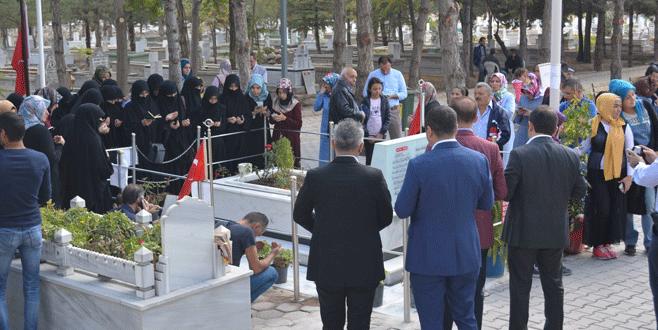 Şehit Astsubay Halisdemir'in kayınvalidesi toprağa verildi