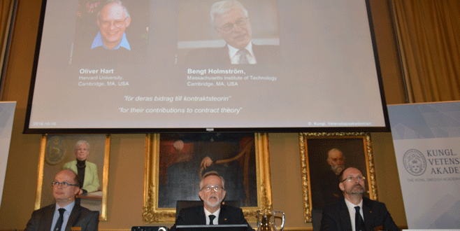 Nobel Ekonomi Ödülü Hart ve Holmström'e