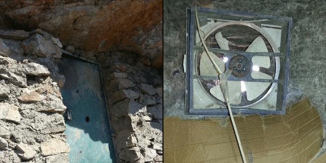 PKK'nın çelik kapılı, fanlı mağarası