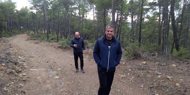 Hamzaoğlu, Harmancık'ta kamp yeri baktı