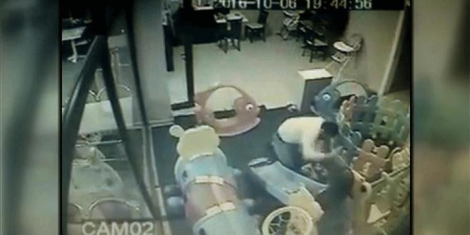 2,5 yaşındaki çocuğa şiddet kamerada