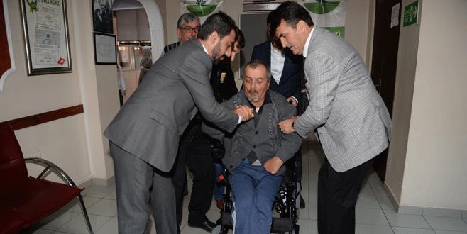 Engelli vatandaşa yardım