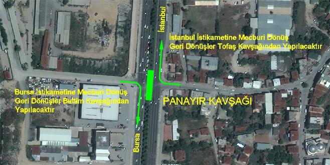 Bursalılar dikkat! Panayır Kavşağı'nda trafik düzenlemesi