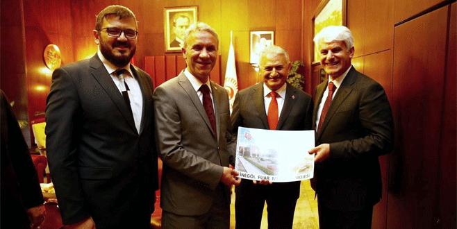 İnegöl Fuar Merkezi'ne Başbakan'dan destek