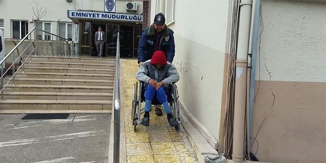 Tekerlekli sandalyede uyuşturucu ticareti!