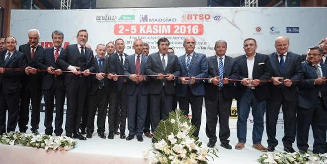 '2. Bursa Blok Mermer Fuarı' açıldı