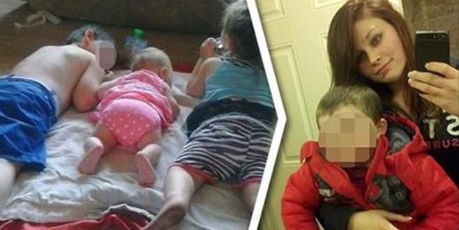 Çocuklarını uyutmak için eroin verdi!