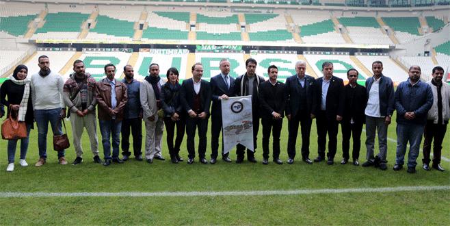 Arap iş adamları, Bursaspor'un stadını ziyaret etti