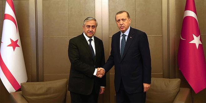 Erdoğan, Mustafa Akıncı'yla görüştü
