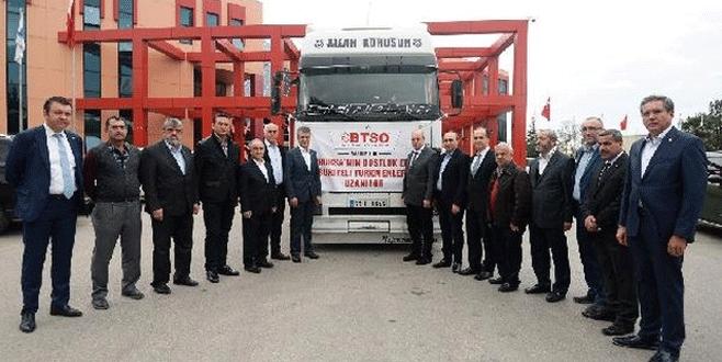BTSO'dan Suriye'deki Türkmenlere yardım