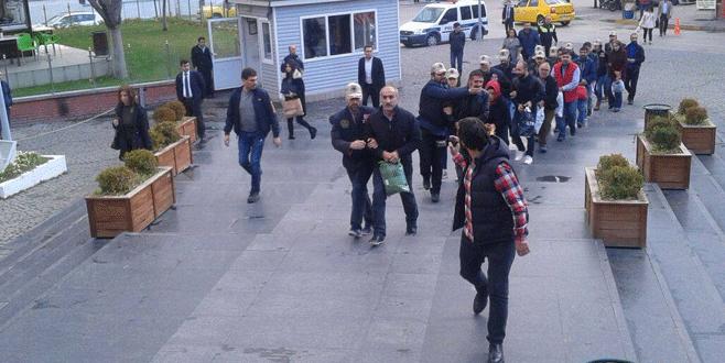 Bursa'daki terör operasyonunda 15 kişi tutuklandı