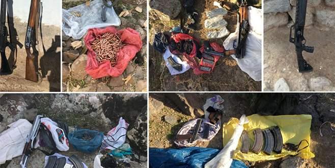 Diyarbakır'da PKK'nın gömülü silahları bulundu