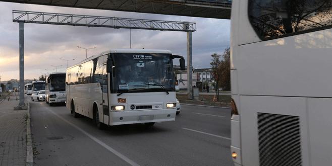 Bursa'da servisler trafiği kilitliyor