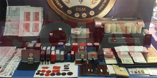 Bursa'da sahte sürücü belgesi operasyonu