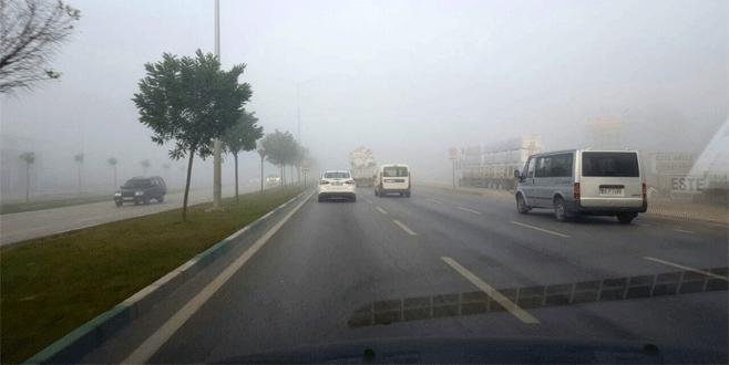 Bursa'da sisli hava trafiği olumsuz etkiledi