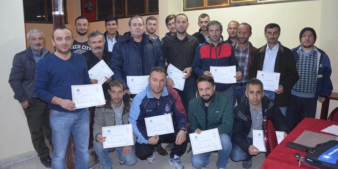 35 kursiyere avcılık belgesi