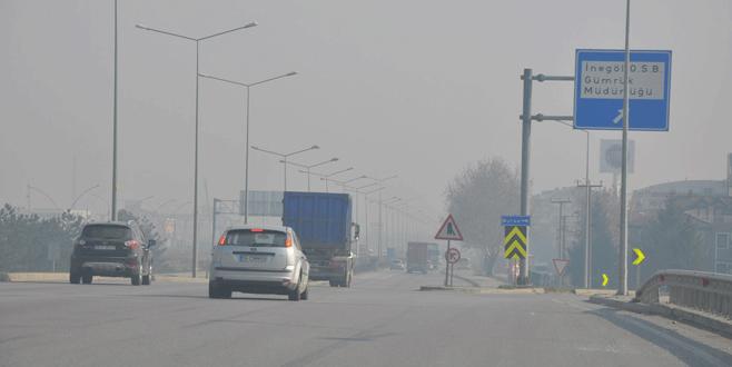 İnegöl'de hava kirliliği