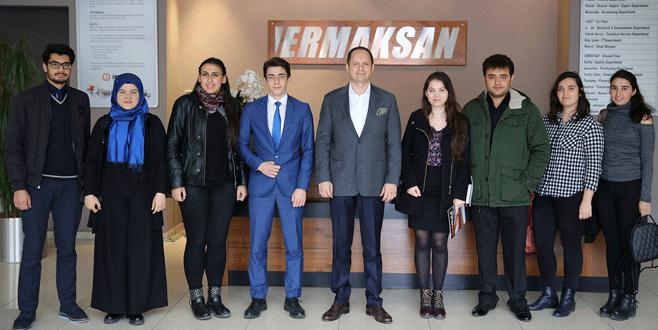 Üniversiteli gençlerden Ermaksan'a ziyaret