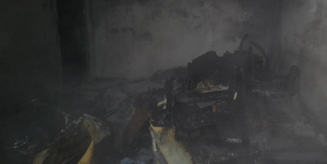 Bursa'da Suriyeli ailenin yaşadığı ev kül oldu