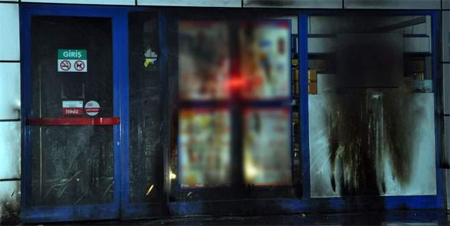 Markete molotoflu ve pompalı tüfekli saldırı